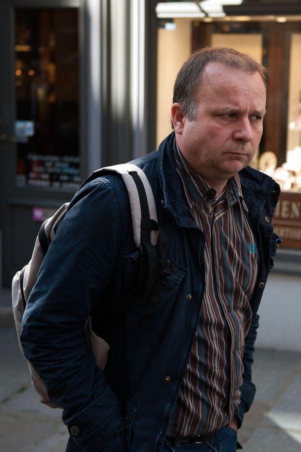 Guillaume, le fils de Maurice Agnelet, lors du procès en avril 2014 à Rennes.