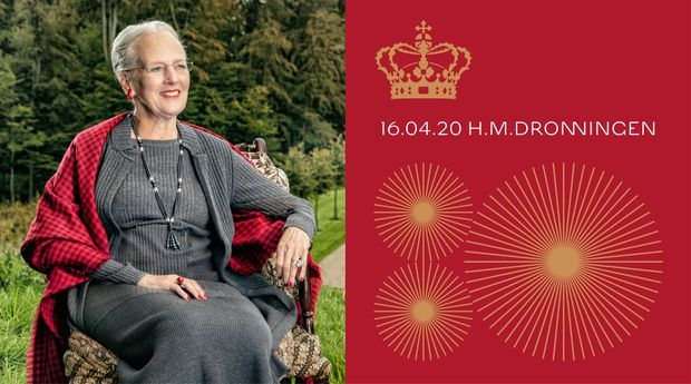 Nouveau portrait de la reine Margrethe II et logo de ses 80 ans en 2020