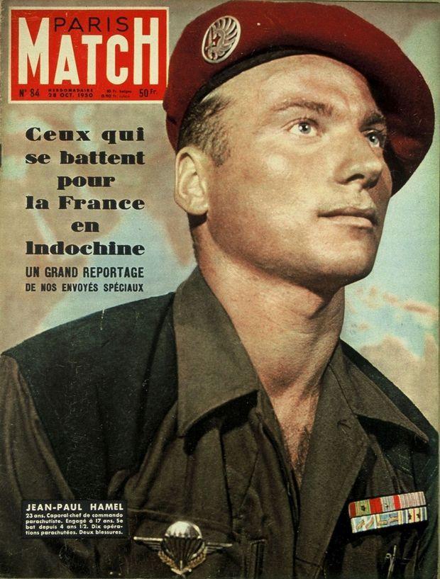 «Jean-Paul Hamel. 23 ans. Caporal-chef de commando parachutiste. Engagé à 17 ans. Se bat depuis 4 ans et 1/2. Dix opérations parachutées. Deux blessures » - Paris Match n°84, 28 octobre 1950.