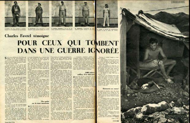 « Pour ceux qui tombent dans une guerre ignorée » - Paris Match n°84, 28 octobre 1950. Jean-Paul Hamel est sur la seconde photo du haut.
