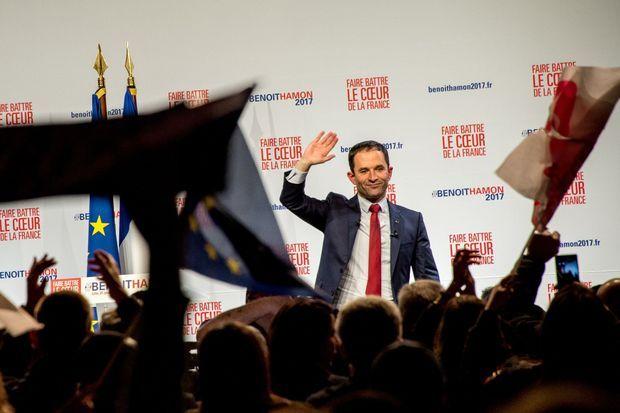 Benoît Hamon, en meeting vendredi à Lille