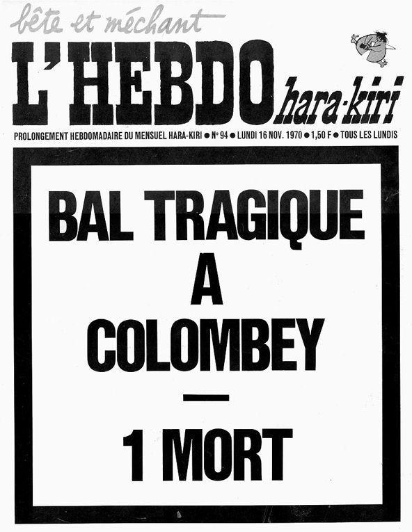 La dernière Une de Hara Kiri, mêlant la mort de De Gaulle et l'incendie meurtrier d'une boîte de nuit. C'en était trop pour la censure.