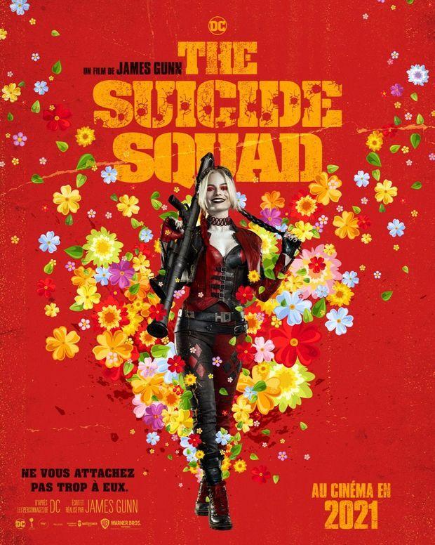 """Margot Robbie en Harley Quinn à l'affiche de """"The Suicide Squad"""""""