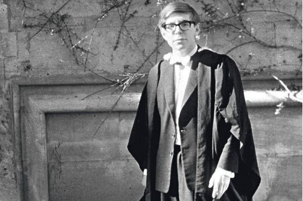 L'étudiant en physique à Oxford, en 1962. Il a alors 20 ans