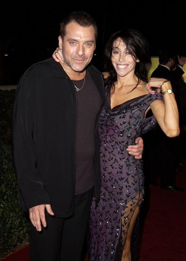 Heidi Fleiss avec son compagnon Tom Sizemore en 2001. Ils se sépareront en 2003 après des violences de l'acteur sur la jeune femme.