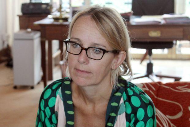 Hélène Le Gal, conseillère Afrique de François Hollande ici à Bangui le 7 octobre 2014