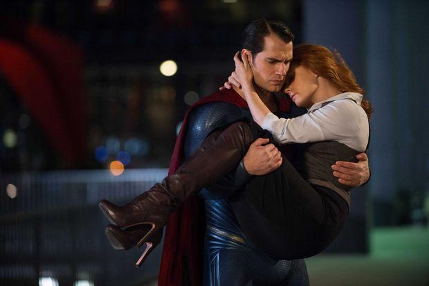 "Henry Cavill et Amy Adams dans ""Batman v Superman""."