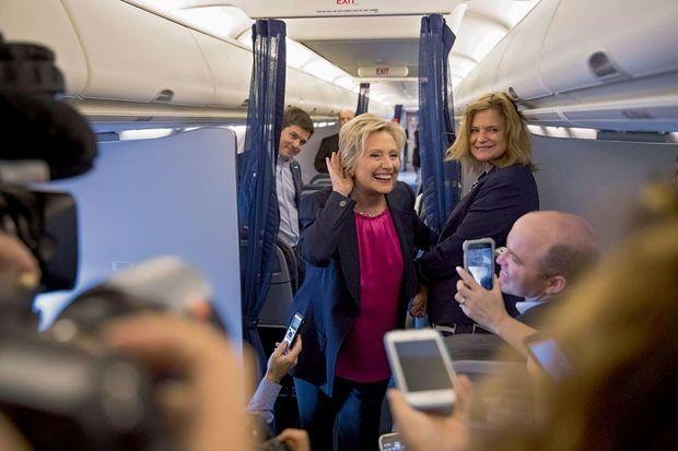 Hillary le 6 septembre, face à la presse