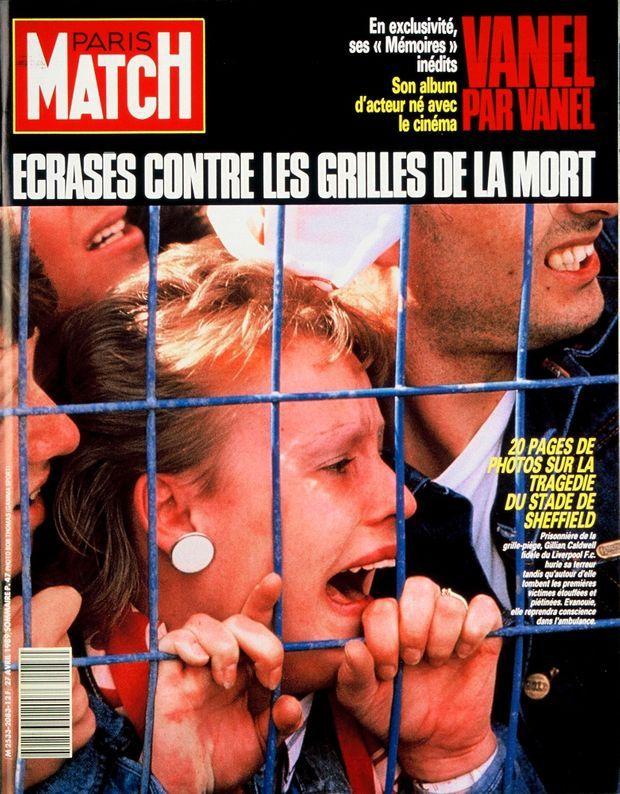 La tragédie d'Hillsborough en couverture de Paris Match n°2083, 27 avril 1989.