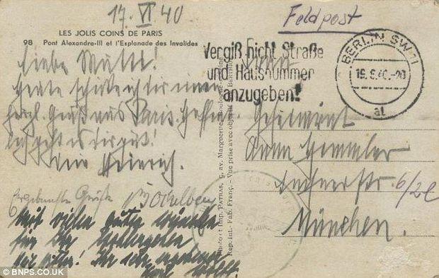 Himmler Carte Postale-