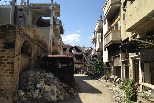 Les rues de Homs.