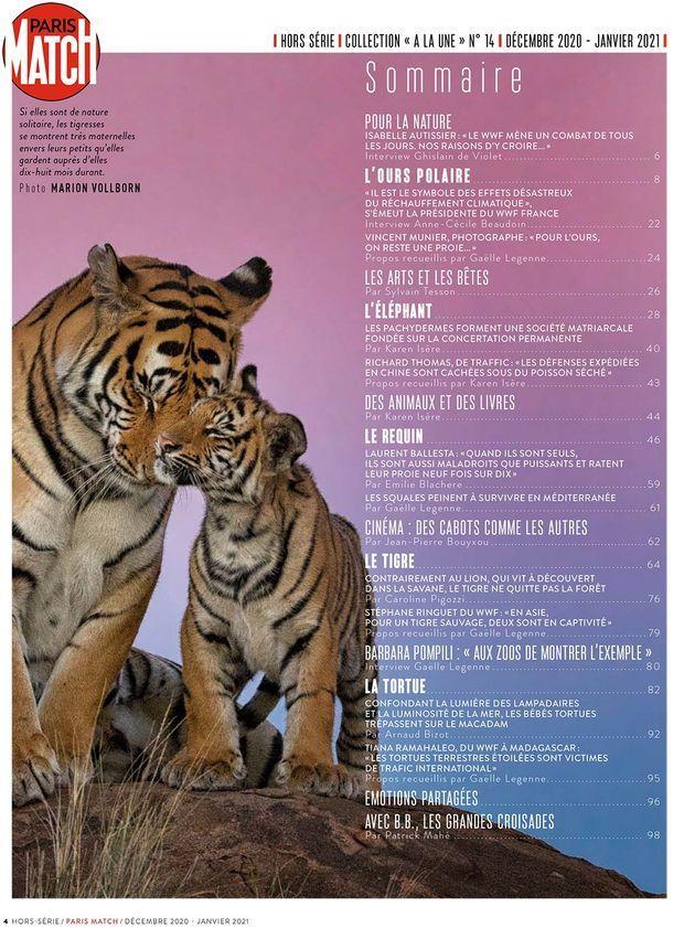 Au sommaire de notre hors-série « SOS Animaux », 100 pages de photos et de reportages exclusifs consacrées à la sauvegarde des animaux...