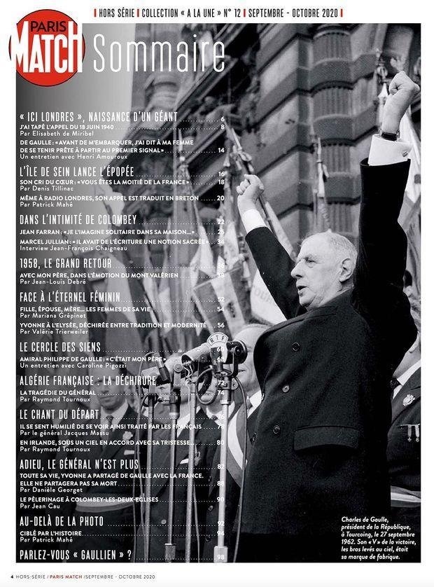 Au sommaire de notre hors-série « De Gaulle et nous », 100 pages de photos et de reportages exclusifs consacrées à la vie du Général...