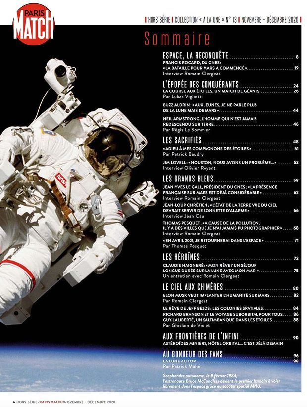 Au sommaire de notre hors-série « La Lune, Mars : les défis de demain », 100 pages de photos et de reportages exclusifs consacrées à la conquête de l'espace...