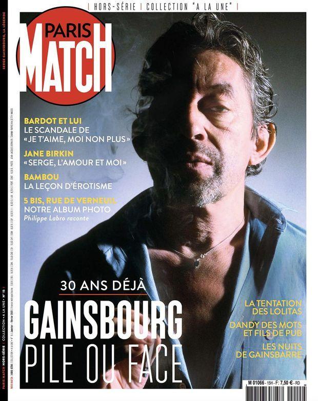 Notre hors-série « Gainsbourg, pile ou face », 100 pages de photos et de reportages exclusifs consacrées au chanteur, en vente à partir du jeudi 7 janvier chez votre marchand de journaux...