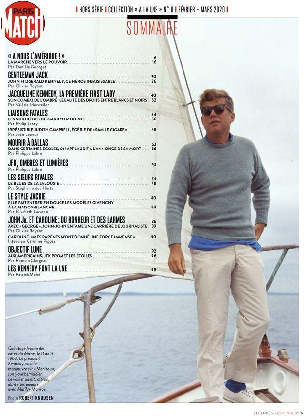 Au sommaire de notre hors-série « La nostalgie Kennedy », 100 pages de photos et de reportages exclusifs consacrées à l'histoire du clan Kennedy...