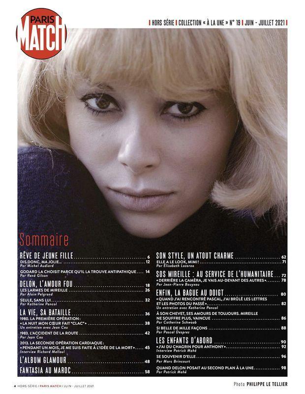 Au sommaire de notre hors-série « Mireille Darc, la charmeuse », 100 pages de photos et de reportages exclusifs consacrées à l'actrice...