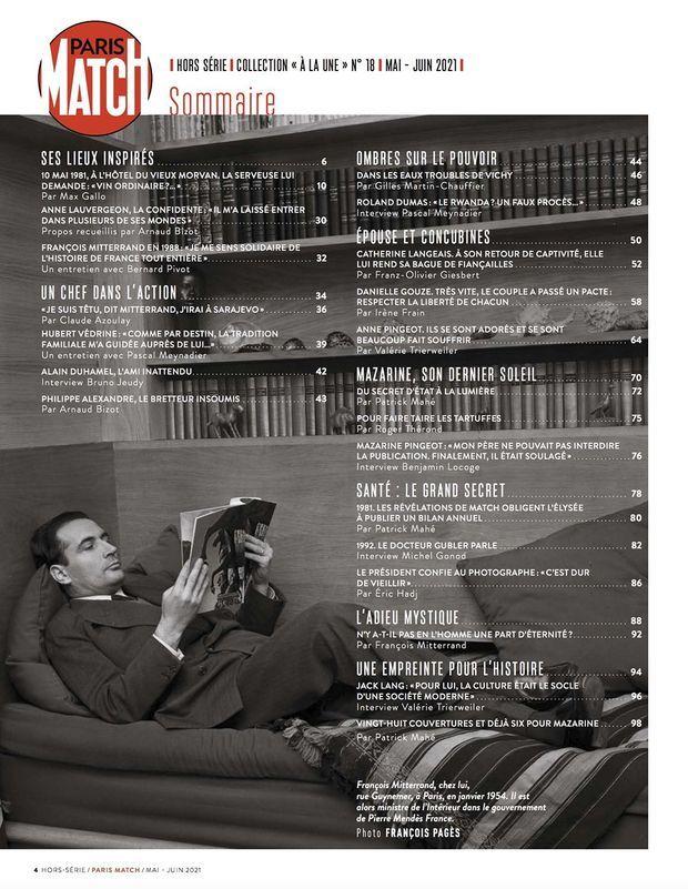 Au sommaire de notre hors-série « Mitterrand intime », 100 pages de photos et de reportages exclusifs consacrées à l'ancien président par ceux qui l'ont connu...