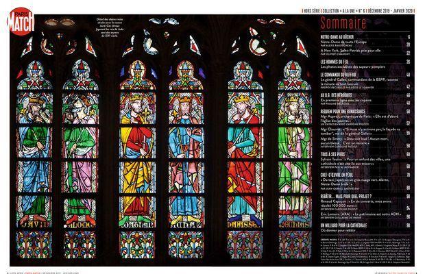 Le sommaire de notre hors-série « Au secours de Notre-Dame », 100 pages de photos et de reportages exclusifs consacrées à l'histoire et à la restauration de la Cathédrale de Paris, en vente à partir du mercredi 4 décembre chez votre marchand de journaux...