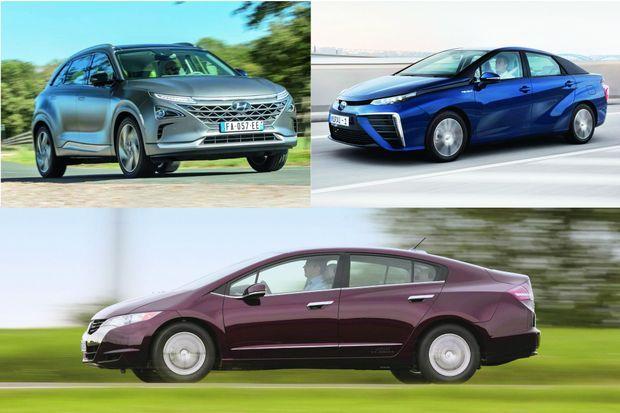 Hyundai Nexo. Toyota Mirai. Honda Clarity.