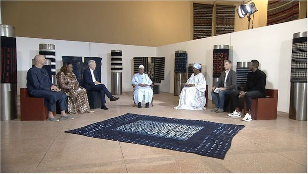 """Le plateau de """"300 Million de critiques"""" au musée national de Bamako, janvier 2020"""