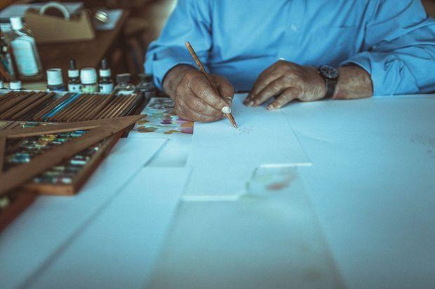 """""""Il est plus facile, quand on est jeune, de trouver du papier et un crayon qu'un piano… Et puis, c'est mon métier. Il faut que je travaille un peu de temps en temps. Sans ça, je serais bien triste."""