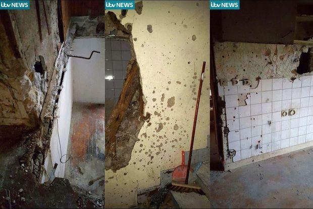 L'appartement de Saint-Denis après l'assaut.