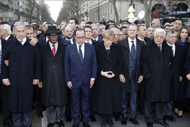 La photo de la minute de silence