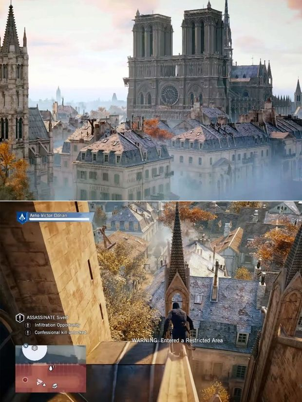 "Images tirées de ""Assasin's Creed Unity""."