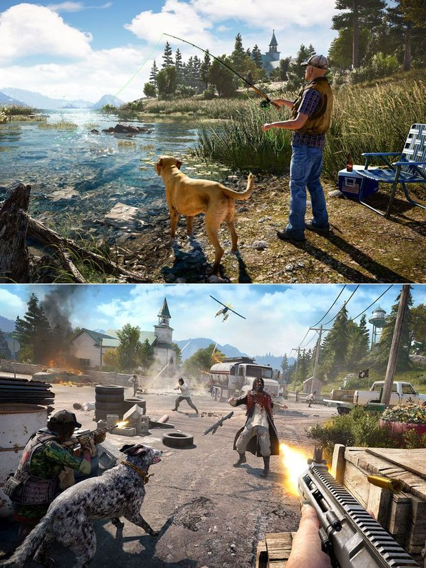 "Images tirées de ""Far Cry 5""."