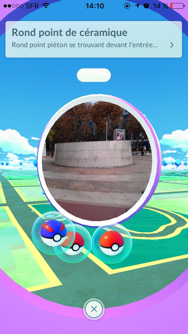 Il faut se rendre à proximité d'un Pokéstop pour obtenir des Pokéballs