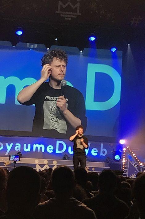 Norman sur la scène du Royaume du web, le 6 mai 2017.
