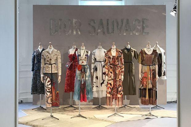 Looks mis en avant par Maria Grazia Chiuri pour le showroom.