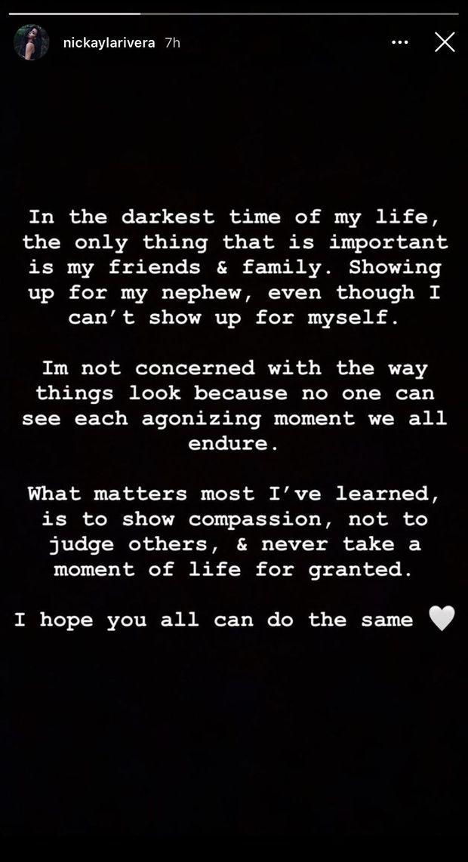 Nickayla Rivera s'exprimant sur sa nouvelle vie avec Ryan Dorsey, le 28 septembre 2020