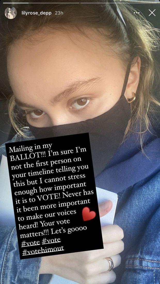Lily-Rose Depp le 26 octobre 2020