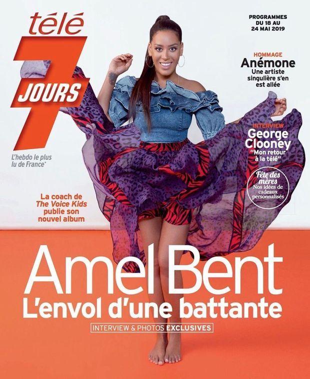 Amel Bent en couverture de Télé 7 jours en mai 2019