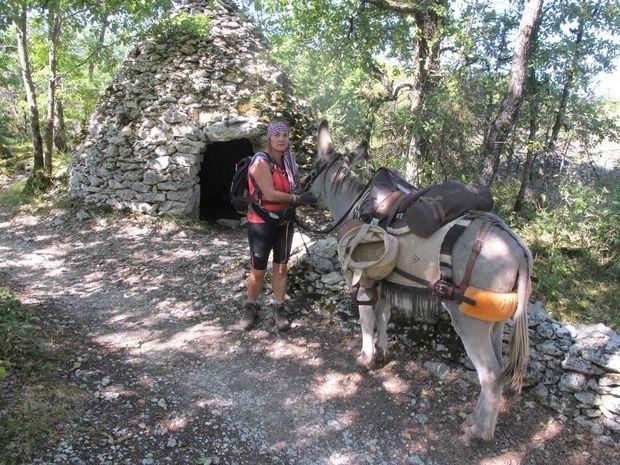 Fabienne Piel et son âne, Moustache.