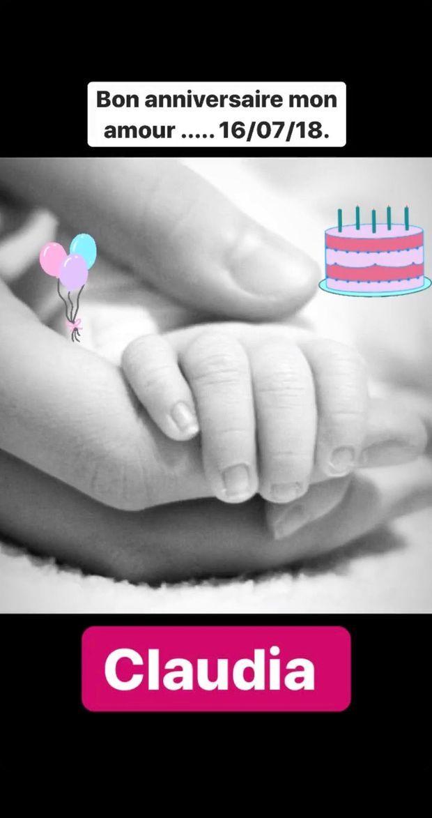 Karine Ferri célèbre les 2 ans de sa fille, Claudia.