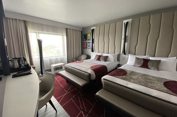 L'une des chambres de l'hôtel (Executive Room)