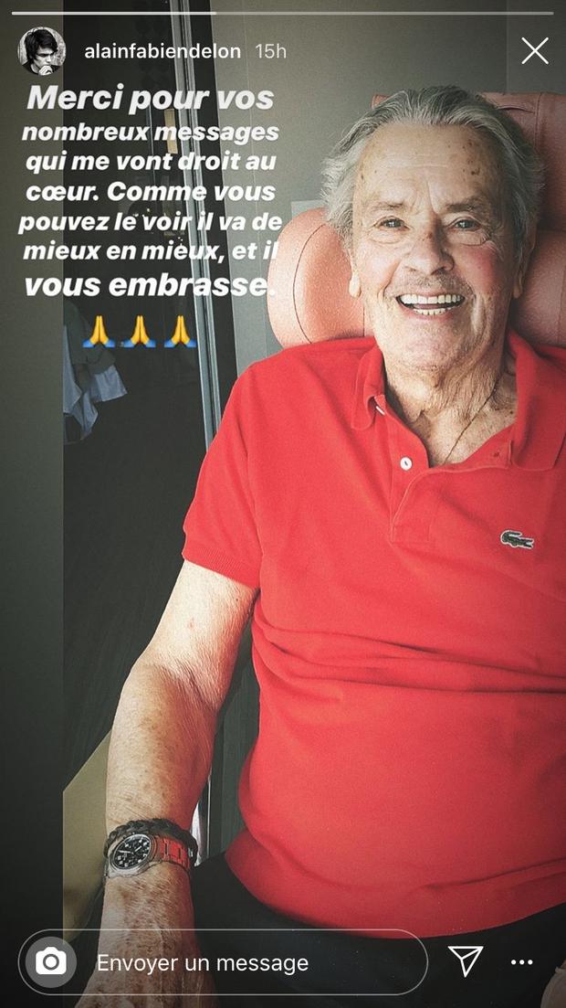 Alain-Fabien Delon donne des nouvelles rassurantes de son illustre père, le 11 août 2019