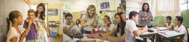 Des professeurs et des élèves profitant des programmes de l'Institut Ayrton Senna.
