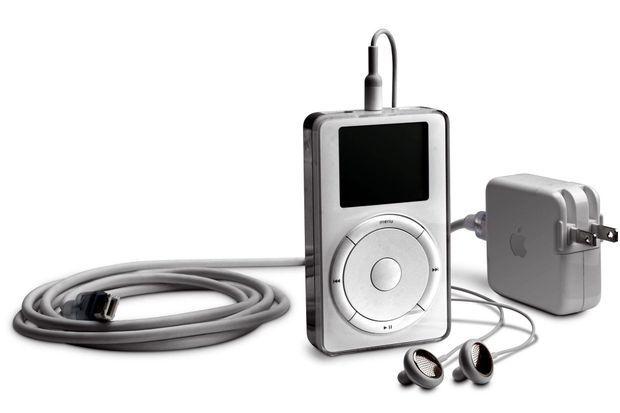 Le premier iPod d'Apple, sorti en 2001. Sa batterie était loin de tenir ses promesses.