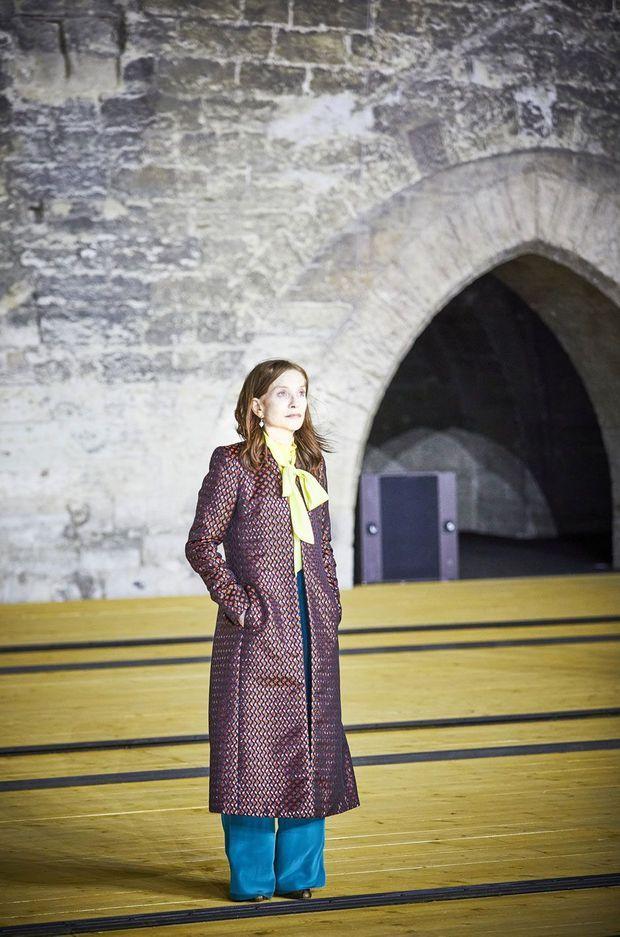 Isabelle Huppert au Festival d'Avignon.
