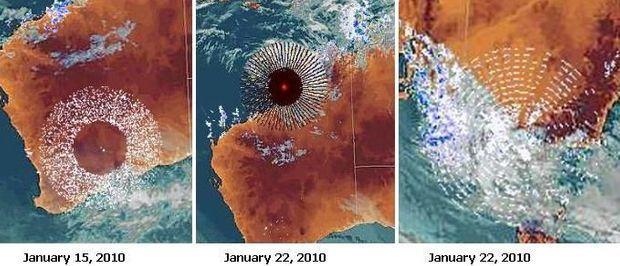 Anomalie radar au-dessus de l'Australie en 2010