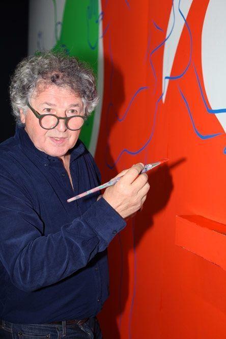 Ivan Messac, pinceau en main, sera à son oeuvre jusqu'au 13 novembre.