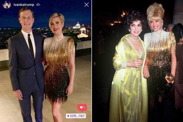 Ivanka Trump portait la robe que sa mère Ivana Trump avait portée pour la première fois en 1991.