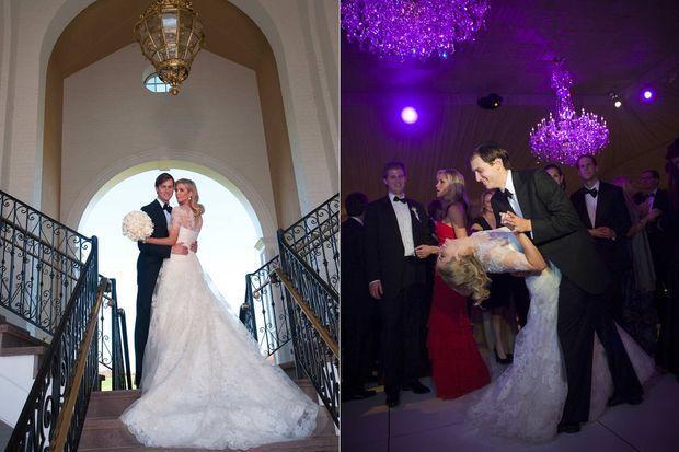 Jared Kushner et Ivanka Trump le jour de leur mariage, le 25 octobre 2009.