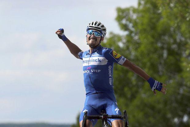 Julian Alaphilippe a remporté la 3e étape du Tour de France lundi à Epernay.