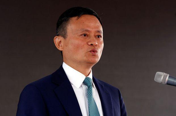 Jack Ma fondateur du géant de l'e-commerce chinois Alibaba lors d'un forum à Addis Abeba, le 25 novembre 2019