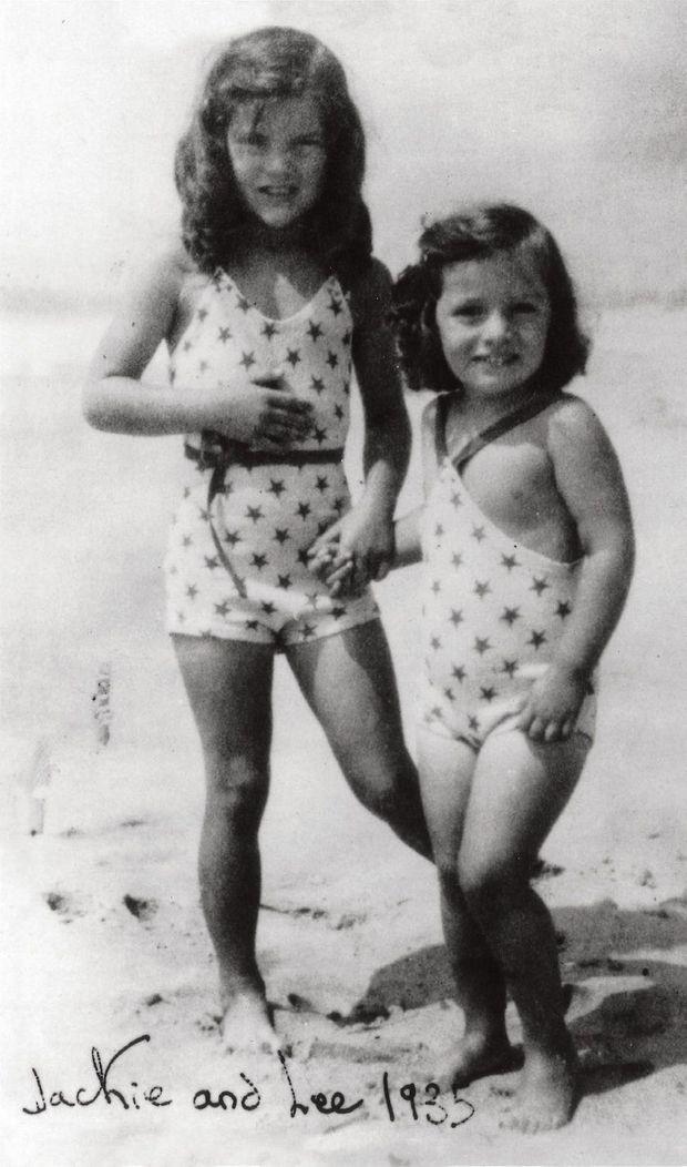 Jackie, 6 ans, et Lee, 2 ans, été 1935.